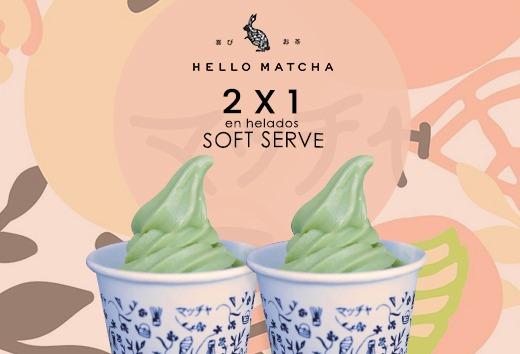 2 x 1 en helados soft serve