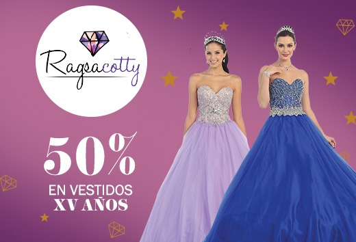 50% en vestidos de XV años