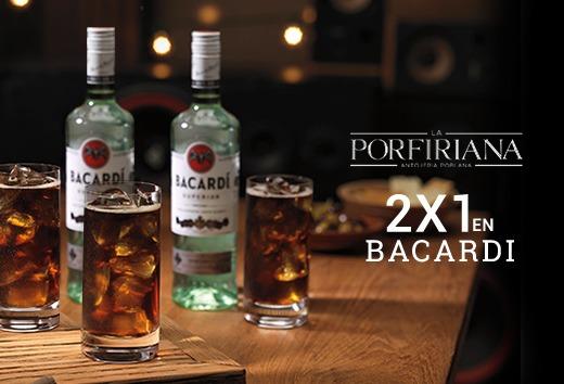 2x1 en Bacardi