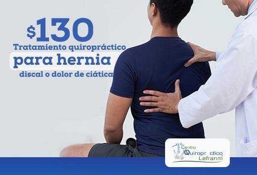Tratamiento para hernia o ciática $130