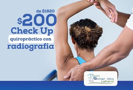 Check Up Quiropráctico con Radiografía $200