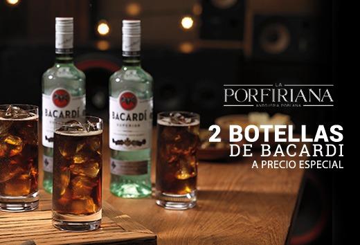 2 Botellas Bacardi a precio especial