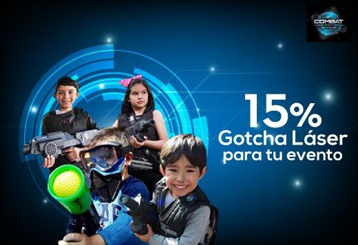 15% en Gotcha Láser para tu evento