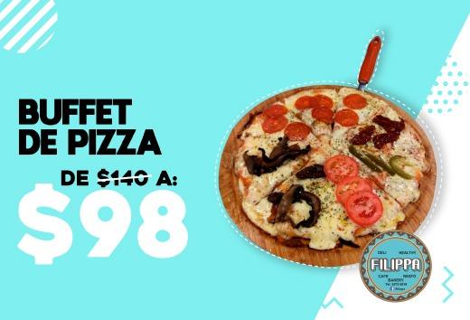 Buffet de pizza de $140 a $98
