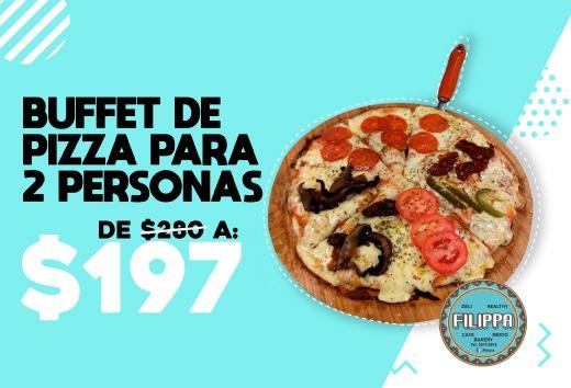 Buffet de pizza para 2 personas de $280 a $197