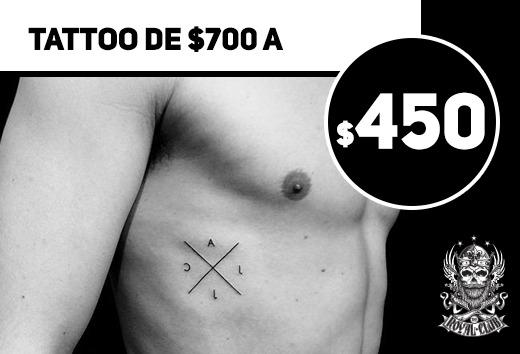 Tattoo de $700 a $450