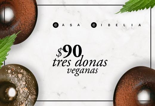 3 donas veganas por $90