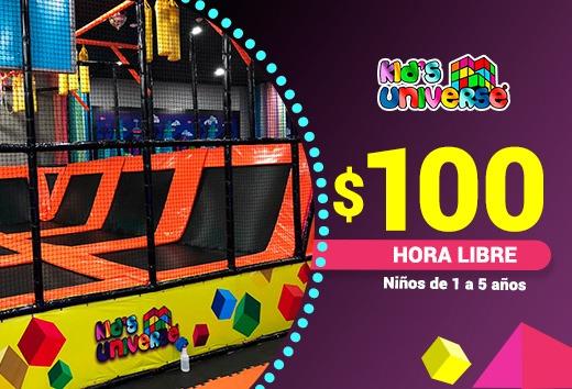 $100 Hora Libre (Niños de 1 a 5 años)