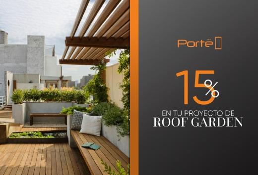 15% de descuento en tu proyecto de Roof Garden