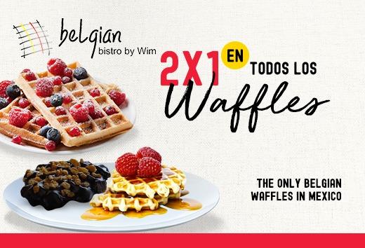 2x1 en todos los waffles
