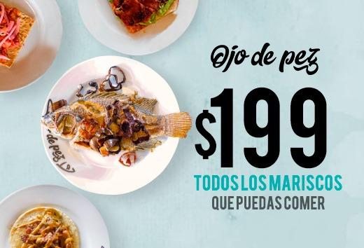 Todos los mariscos que puedas comer por $199