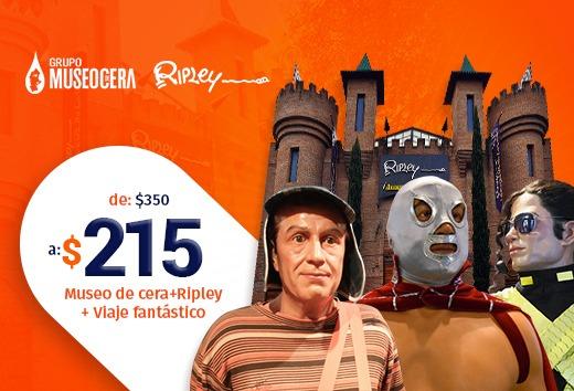Entrada para adulto o niño al Museo de cera + Ripley + viaje fan