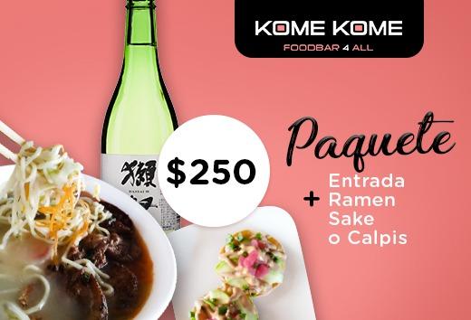 Entrada + Ramen + Sake o Calpis $250