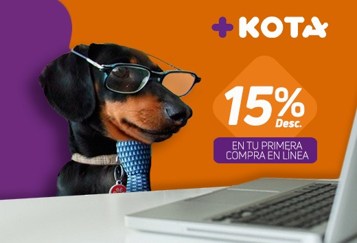 15% descuento en tu primera compra en línea
