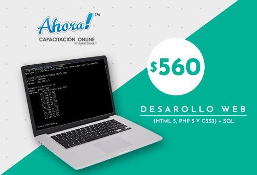 Desarollo Web (HTML 5, PHP 5 y CSS3) + SQL $560