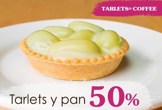 50% en Tarlets y pan