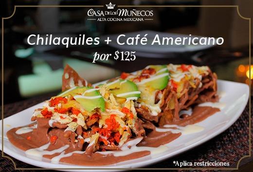 Chilaquiles + café americano por $125