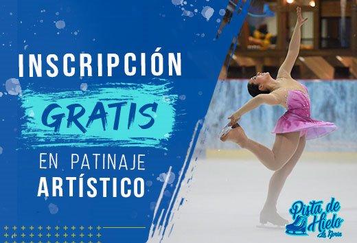 Inscripción GRATIS en patinaje artístico