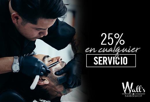 25% de descuento en cualquier servicio