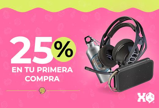 25% en tu primera compra