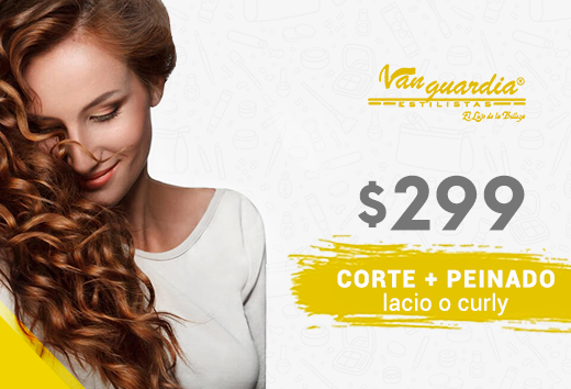 Corte de cabello + peinado lacio o curly por $299