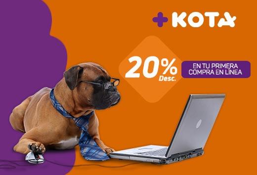 20% en tu primera compra en línea