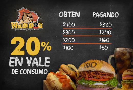 20% en tu consumo
