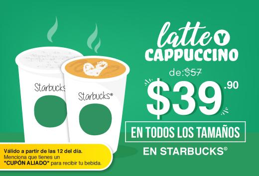 Latte o capuccino por $39.90