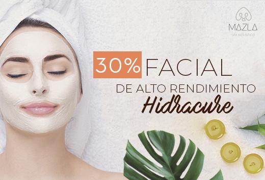 30% en facial Hidracure