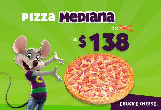Pizza Mediana de $195 a $138