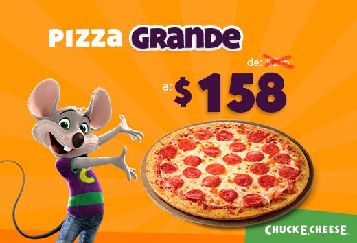 Pizza grande de $215 a $158
