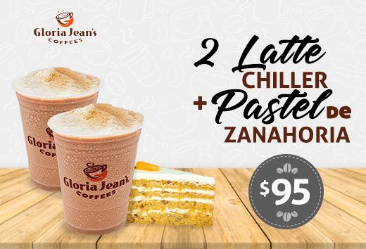 2 Latte Chiller + Pastel de Zanahoria $95