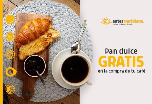 Pan dulce gratis en la compra de tu café