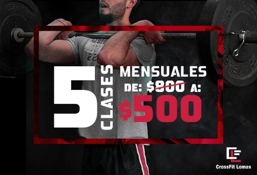 5 clases mensuales $500
