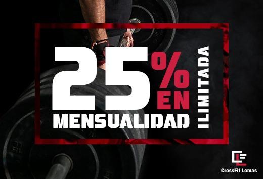 25% en mensualidad ilimitada