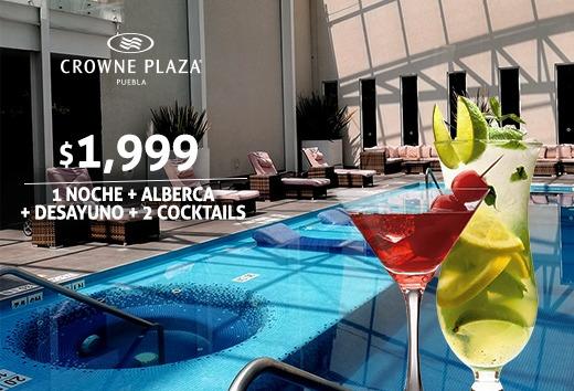 1 Noche + Alberca + Desayuno + 2 cocktails $1,999
