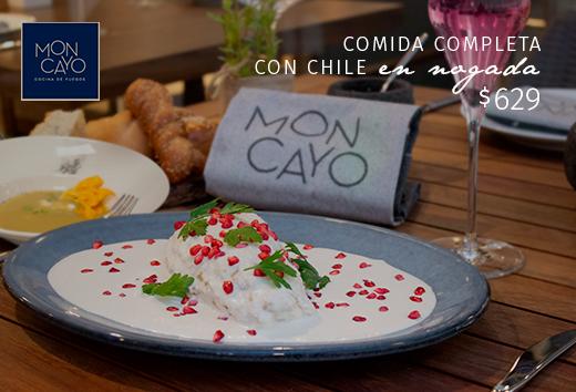 Comida completa con Chile en Nogada $629
