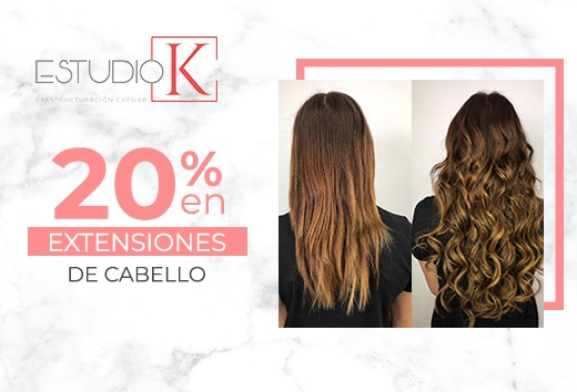 20% en extensiones de cabello