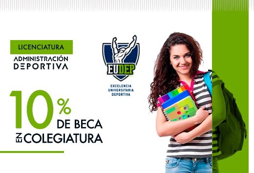 10% en Licenciatura en Administración Deportiva
