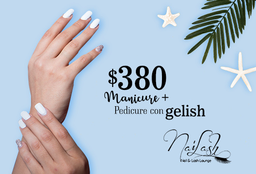 Manicure + Pedicure con Gelish $380