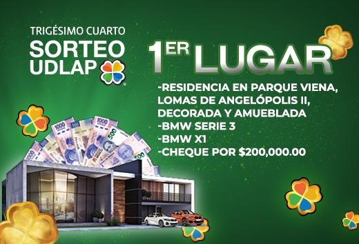 Boletos Sorteo UDLAP de $540 a $499