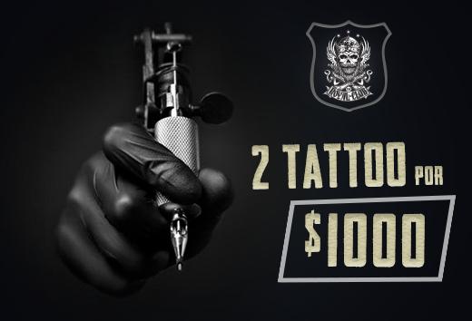 2 tattoos $1000