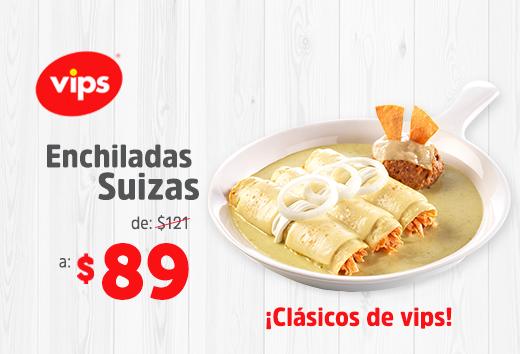 Enchiladas Suizas de $89