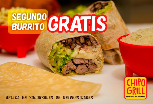Segundo burrito gratis