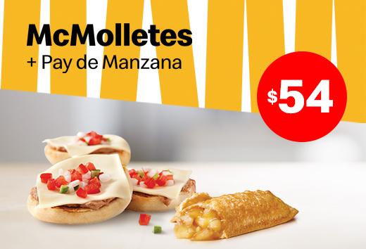 Mcmolletes + 1 Pay de Manzana por $54