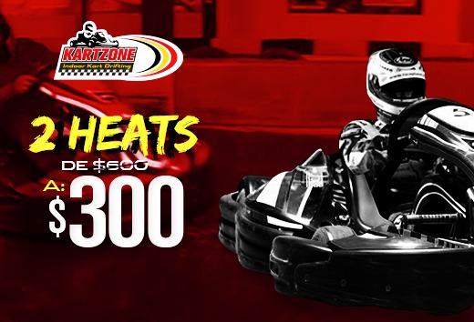 2 heats por $300
