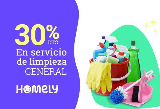 30% en Servicio de limpieza general