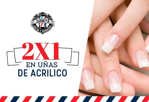 2x1 en uñas de acrilico