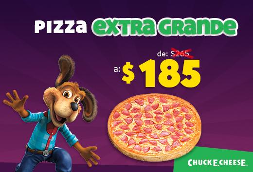 Pizza extragrande de $265 a $185