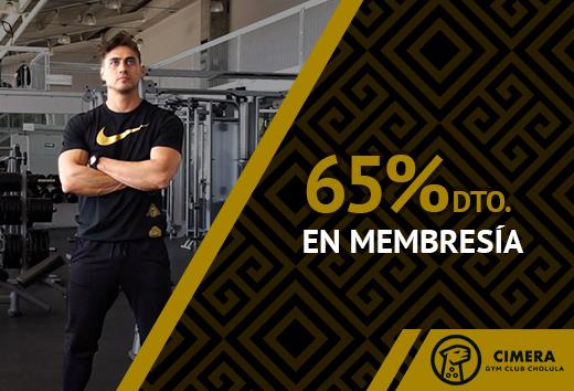 65% de descuento en membresía